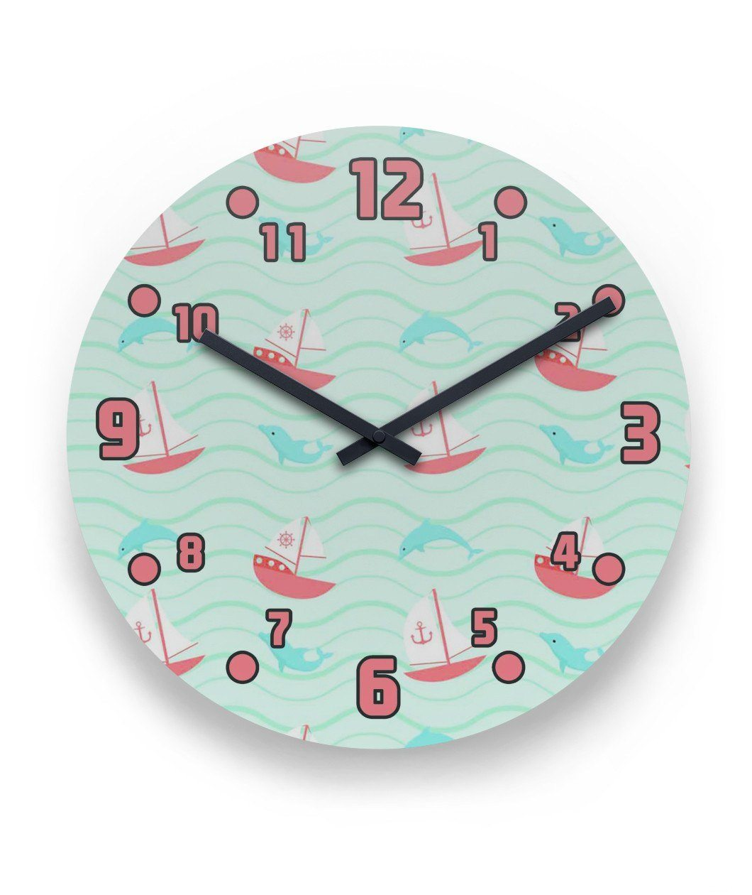 Dolphin 2 Wall Clock