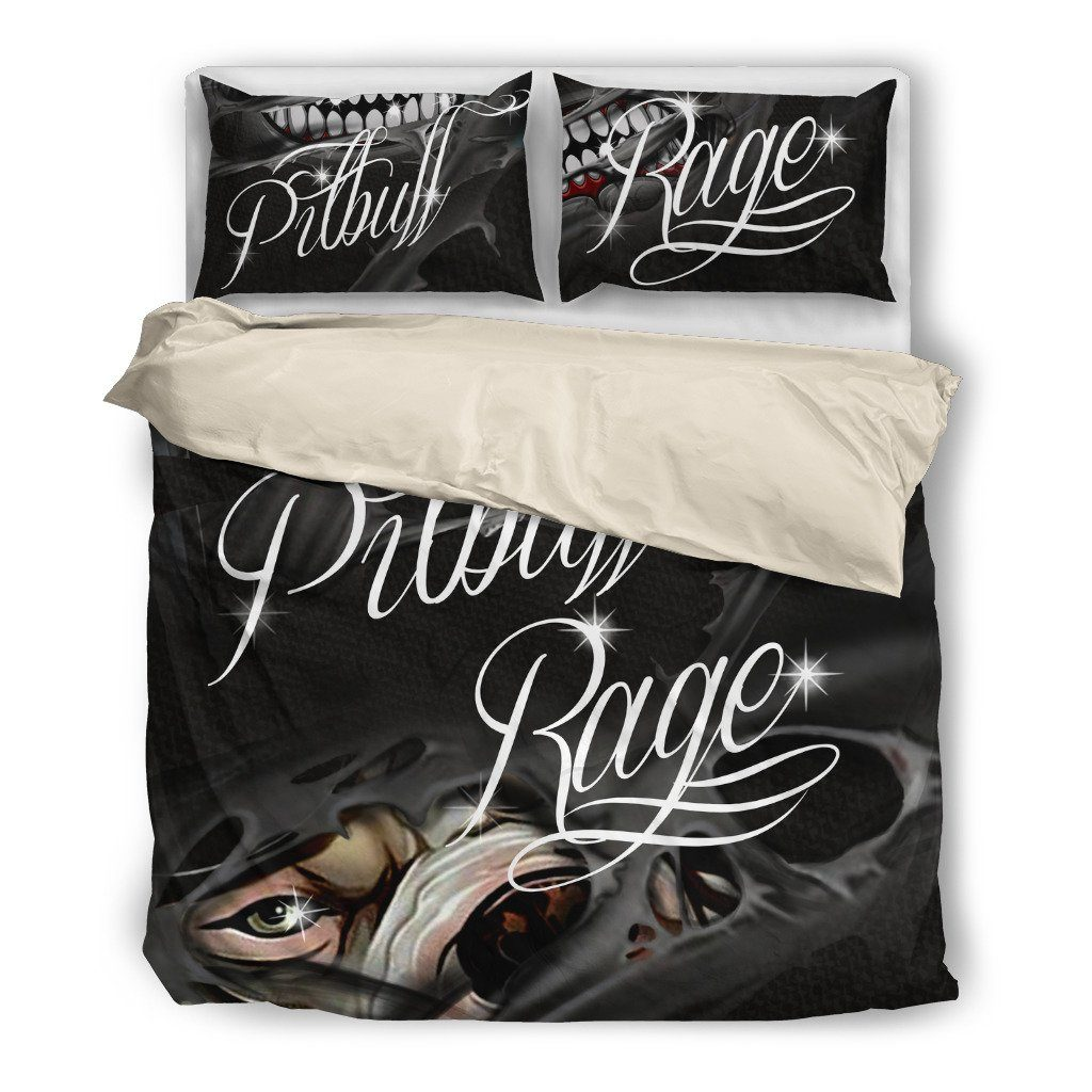 Pitbull Dog Themed Bedding Sets (Includes Duvet Cover, Twin/Queen/King Size Bed Sheet & 2 Pillow Covers)
