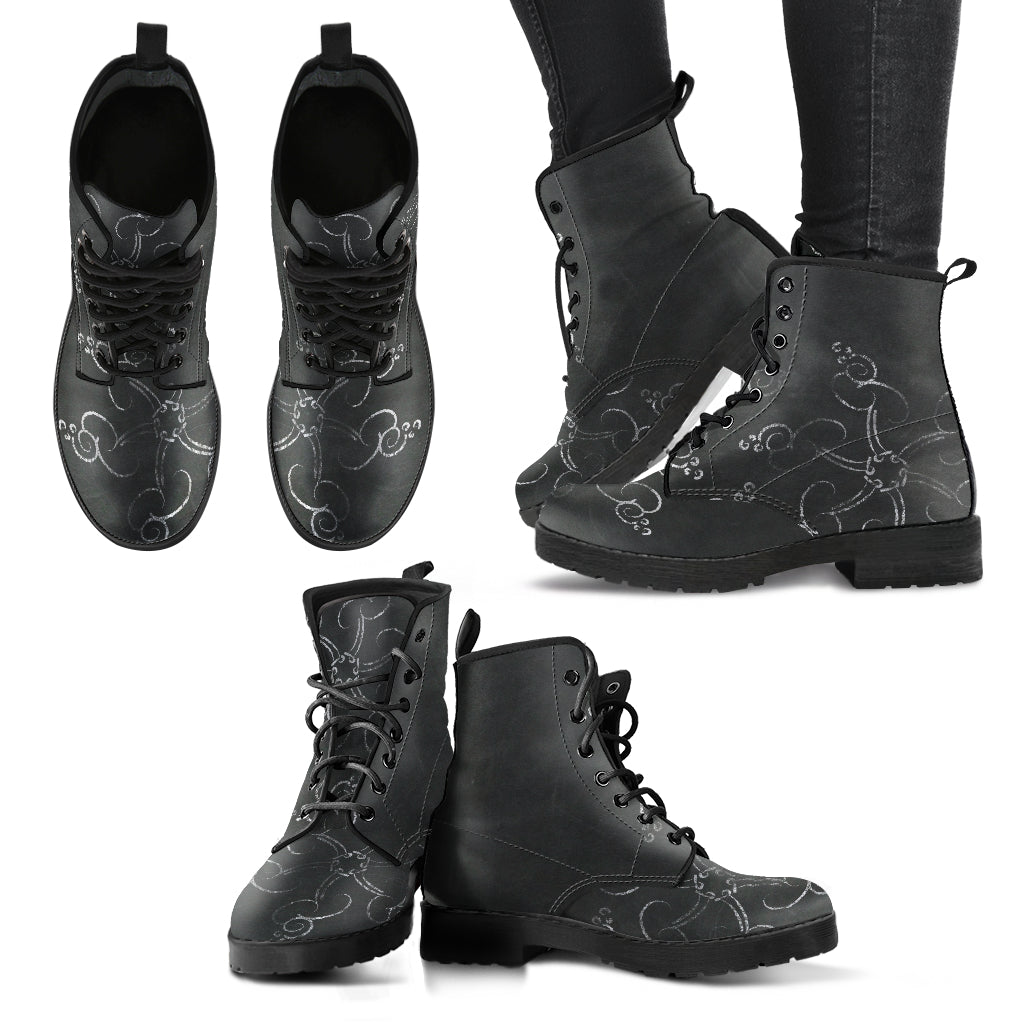Chalkboard Christmas P7 - Leather Boots for Women