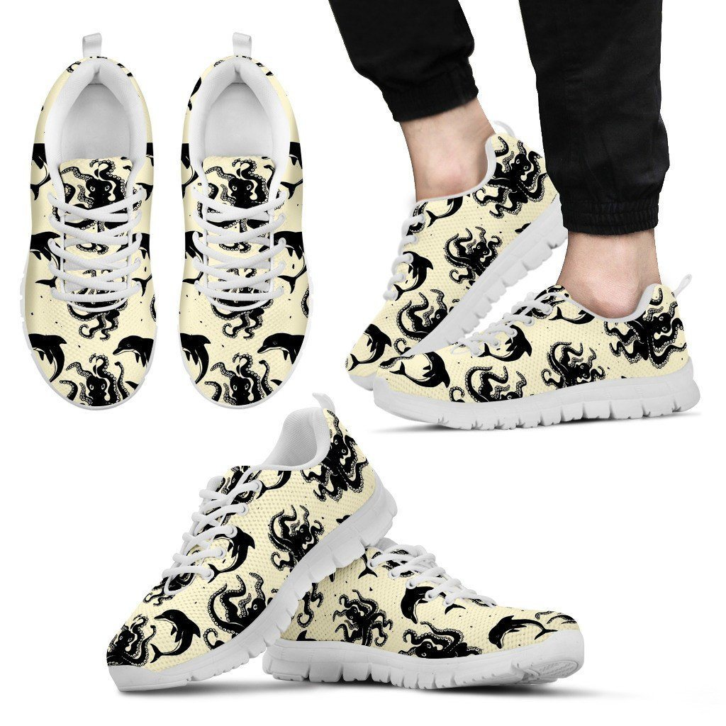 Octopus 2 White Sole Print Sneakers Available in Men's, and Women's Sizes