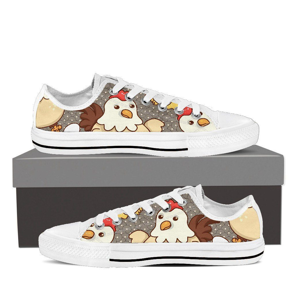 Chicken Eggs Print Low Tops Shoes Available in Men's and Women's Sizes
