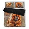 Chowchow Dog Themed Bedding Sets (Includes Duvet Cover, Twin/Queen/King Size Bed Sheet & 2 Pillow Covers)