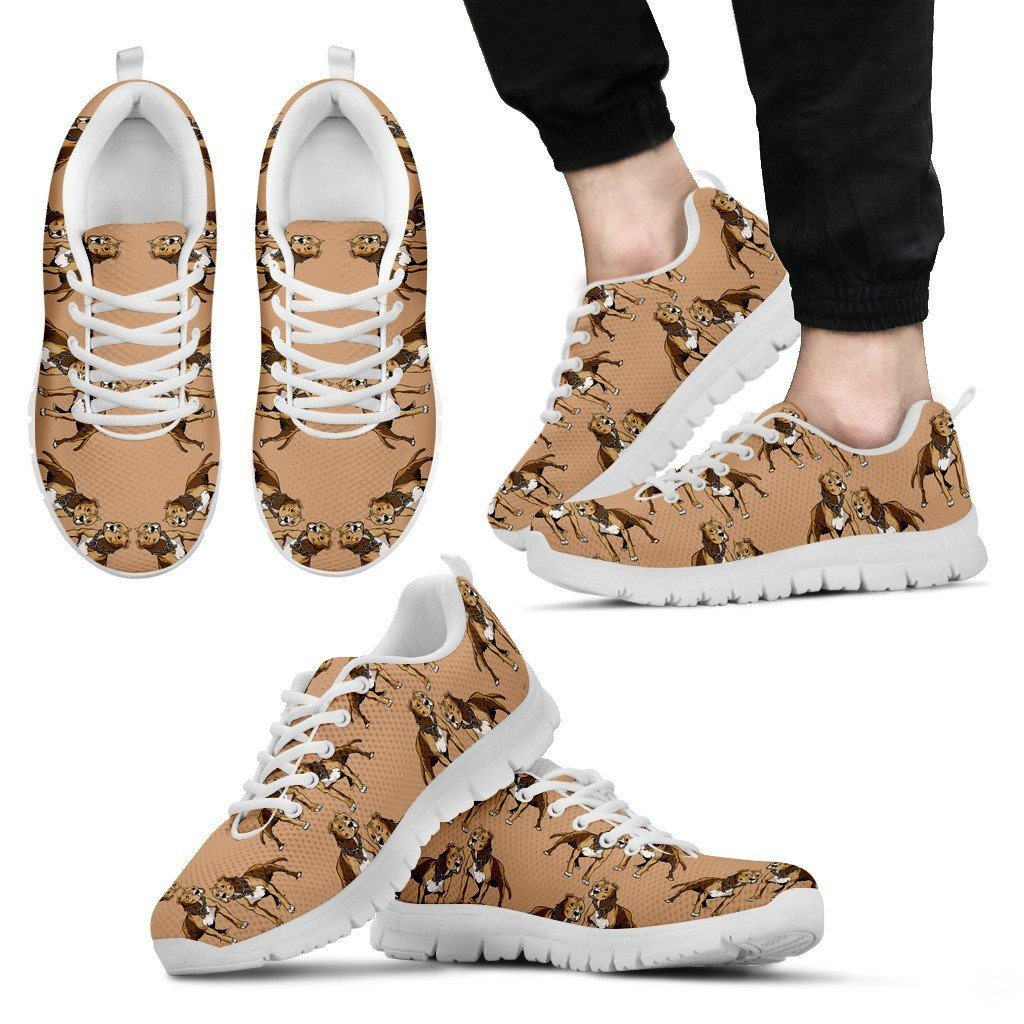 Pitbull Lover 2 White Sole Print Sneakers Available in Men's, and Women's Sizes