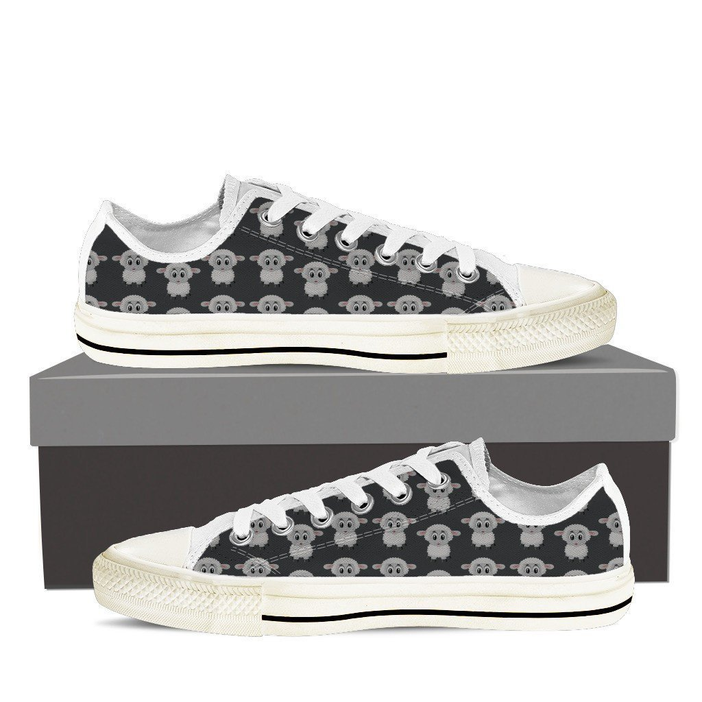 Lamb Print Low Tops Shoes Available in Men's and Women's Sizes