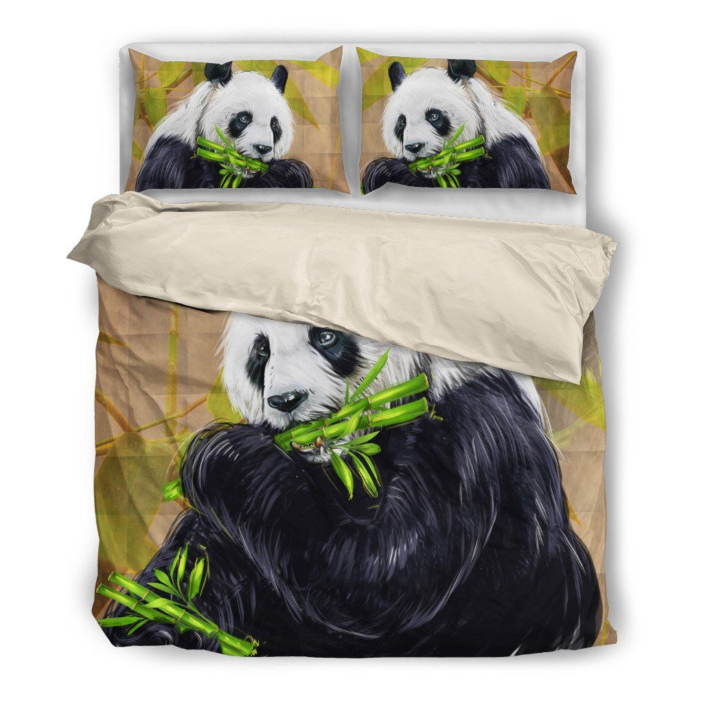 Panda 3 Wildlife Themed Bedding Sets (Includes Duvet Cover, Twin/Queen/King Size Bed Sheet & 2 Pillow Covers)