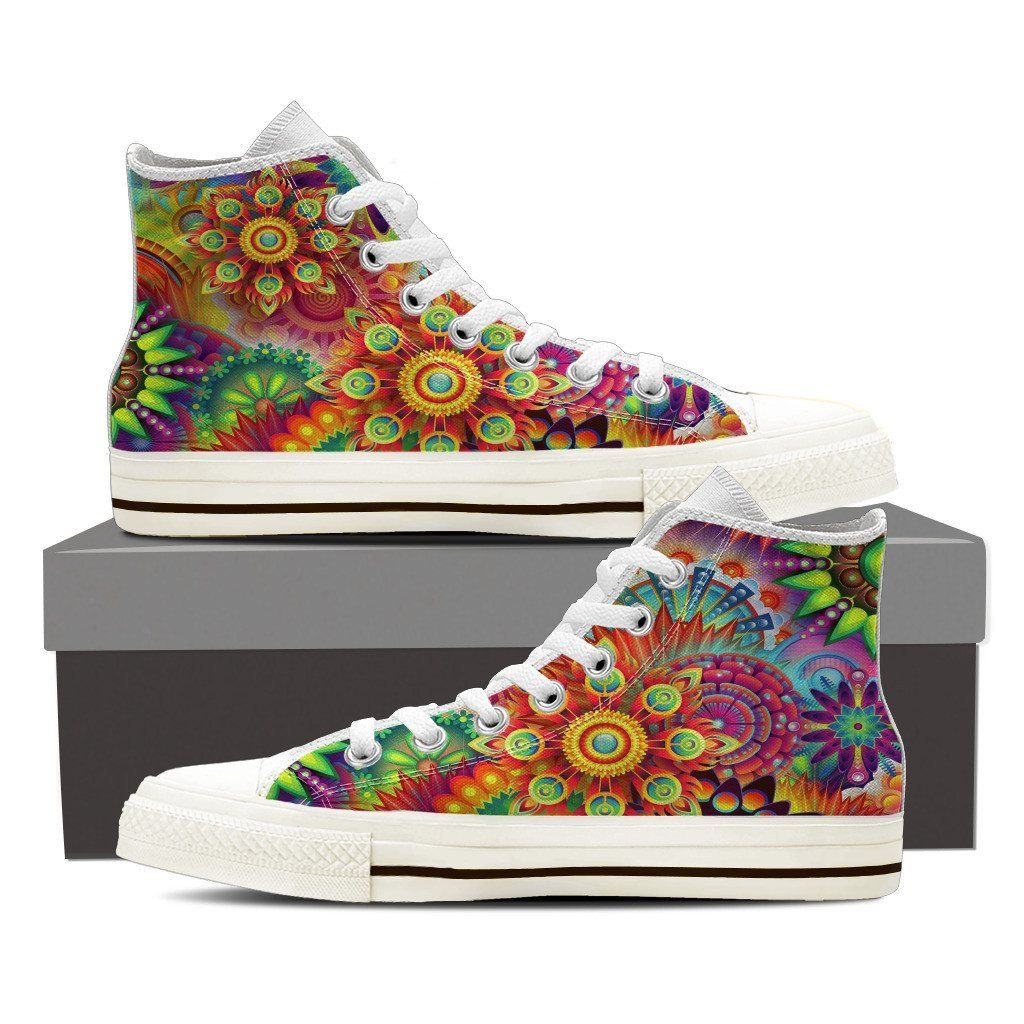 Colorful World Men's Black High Top