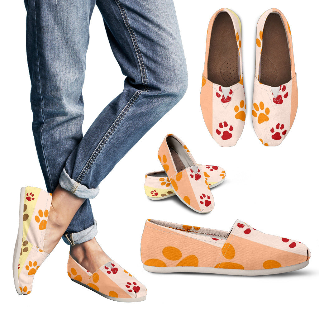 Paws & Stripes Print Women's Casual Shoe