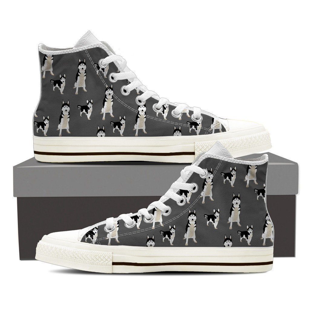 Husky 2 Print High Tops Shoes Available in Men's and Women's Sizes