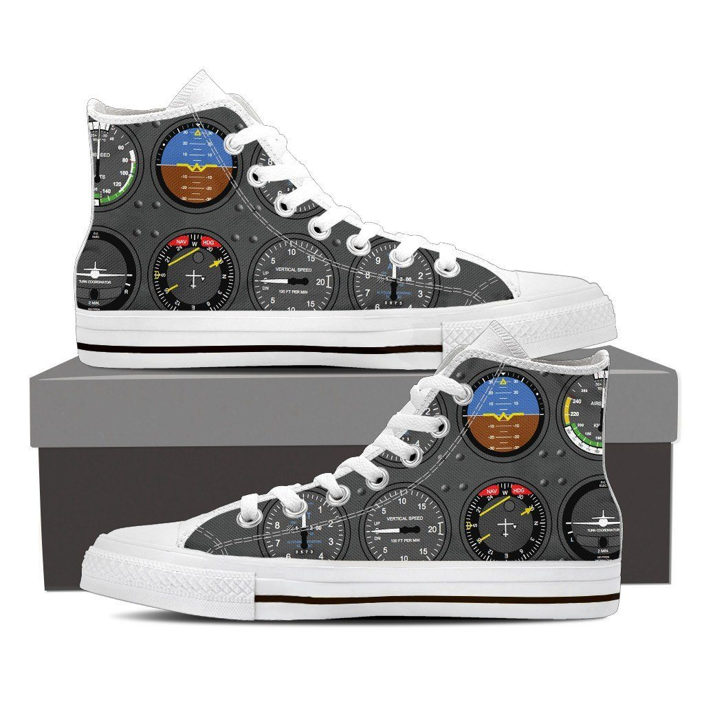 Pilot Print High Tops Shoes Available in Men's and Women's Sizes
