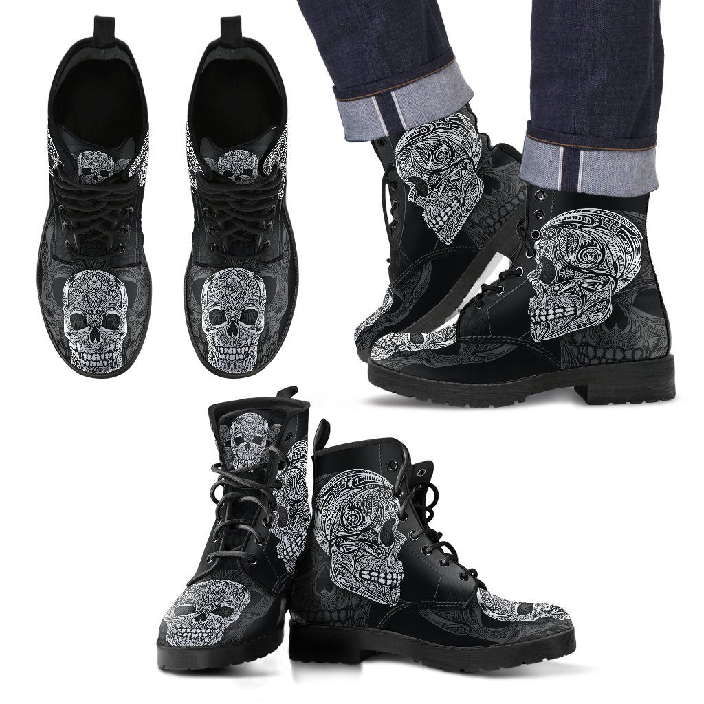 Decorative Skull Boots