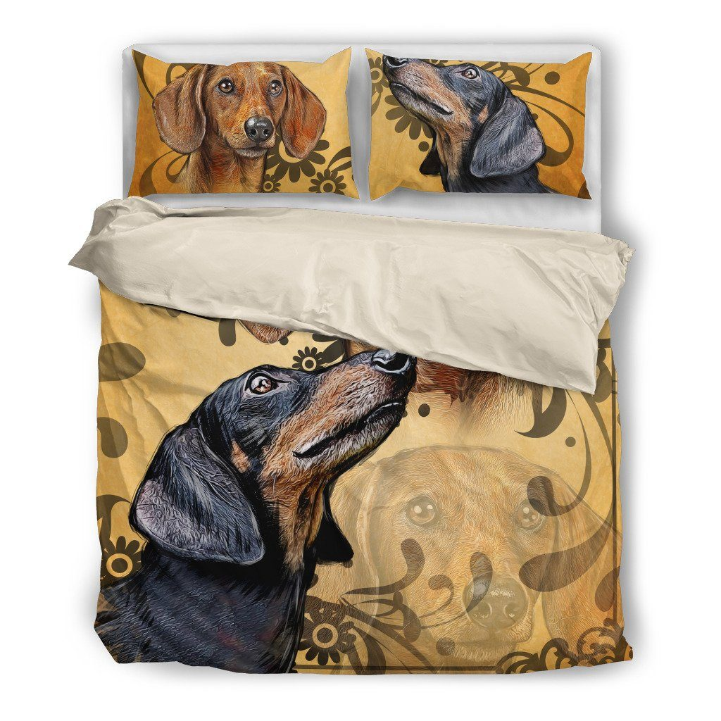 Dachshund 4 Bedding Set (Free Shipping + 2 Matching Covers)