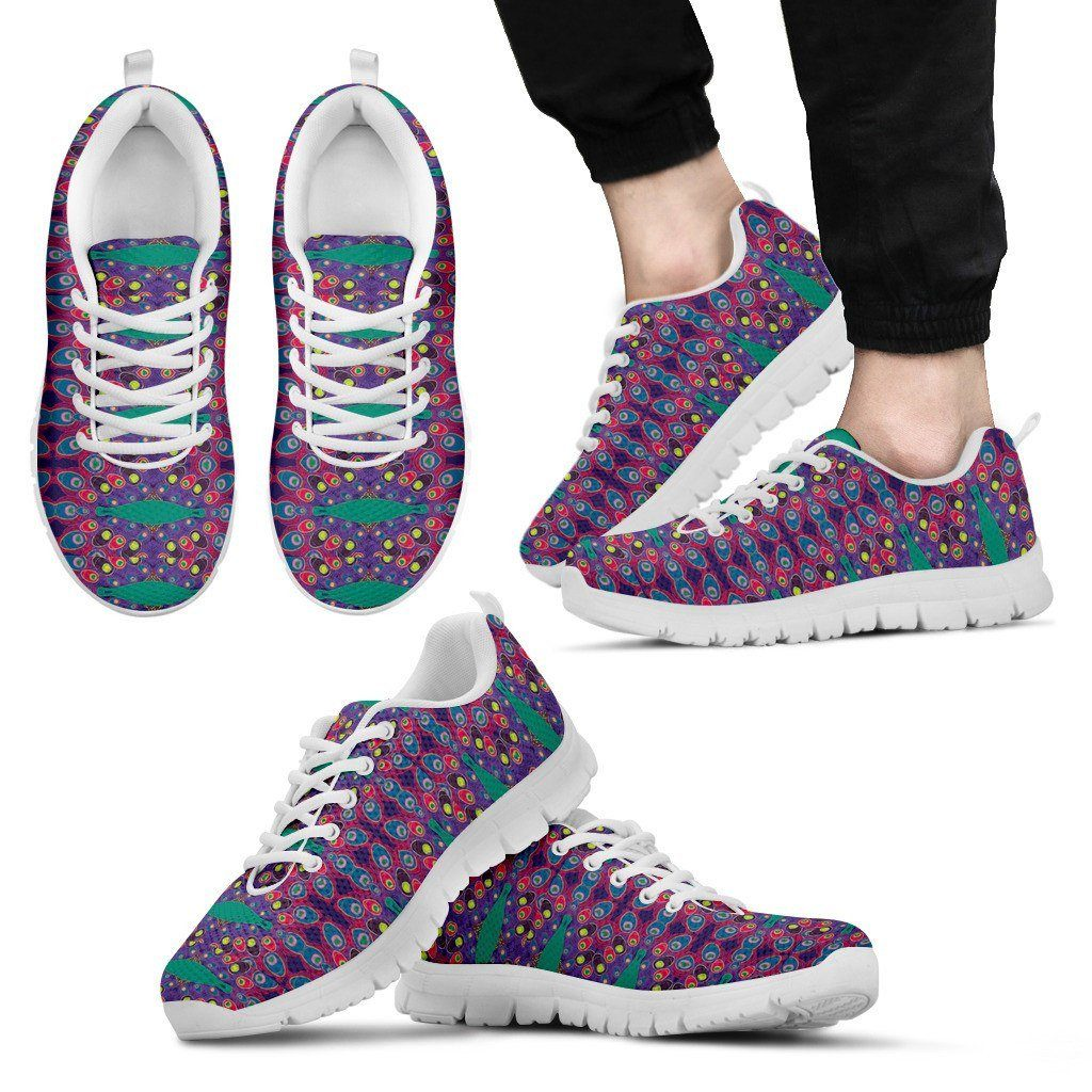 Peacock Print Sneakers Available in Men's, and Women's Sizes