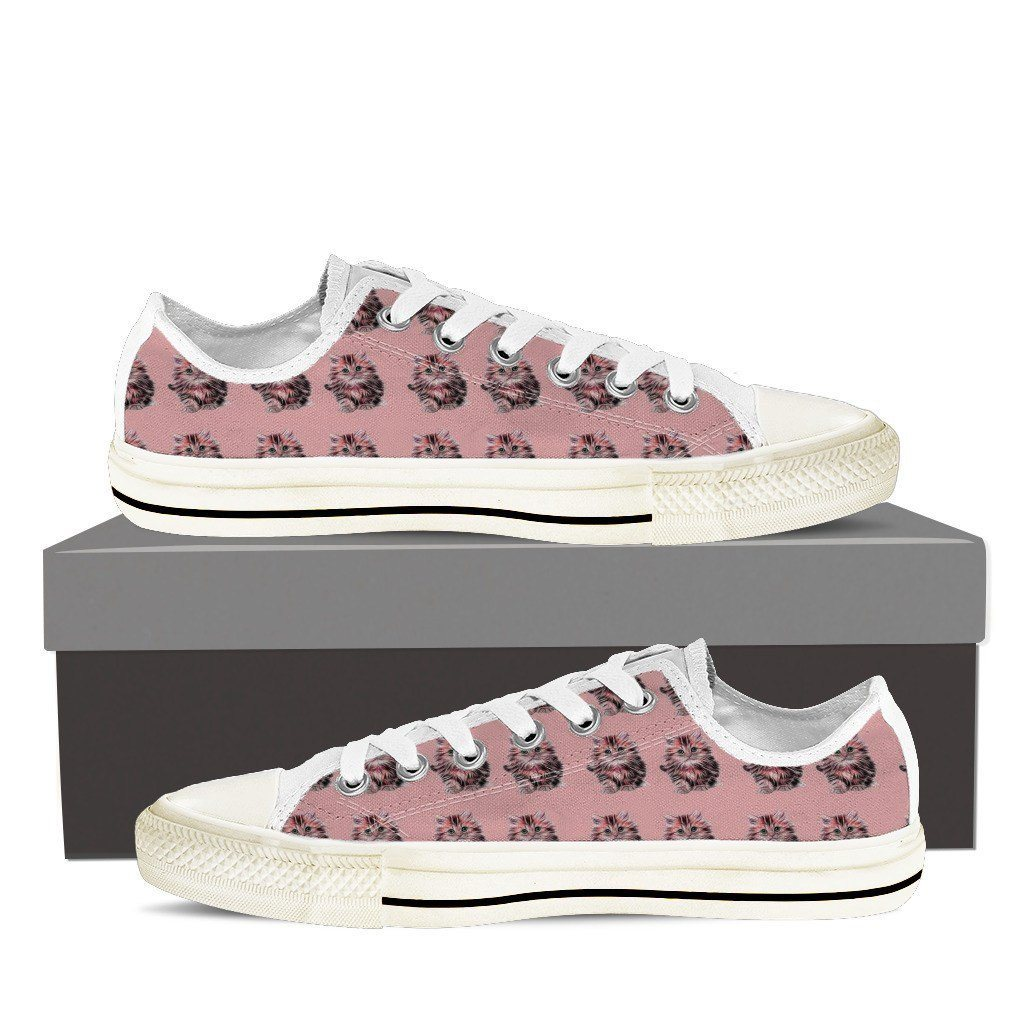 Cat Print Low Tops Shoes Available in Men's and Women's Sizes