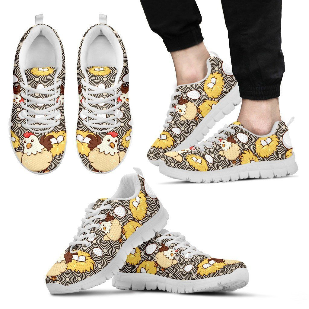 Chicken Eggs Sneakers Available in Men's, Women's, and Kid's Sizes