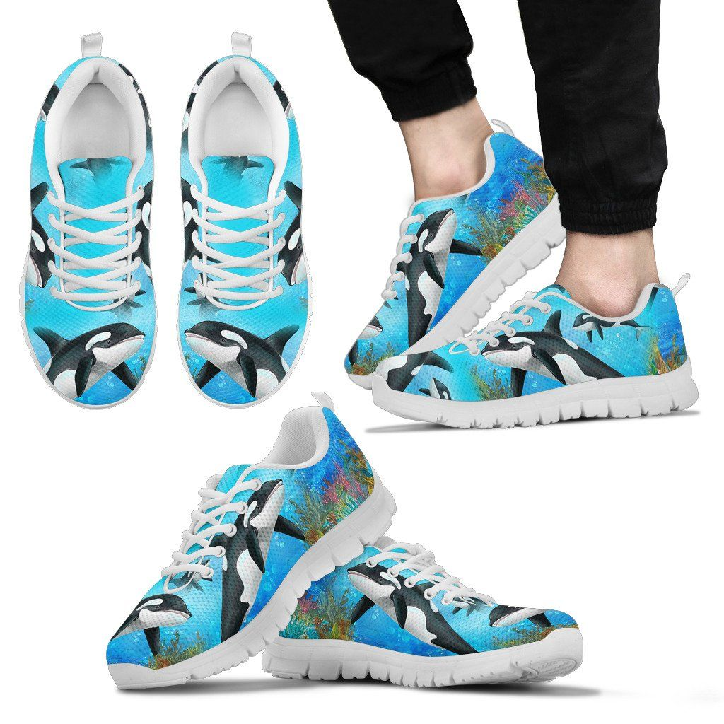 Orca Print Sneakers Available in Men's, Women's and Kid's Sizes