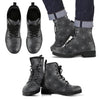 Men's Spider Web Faux Leather Boots