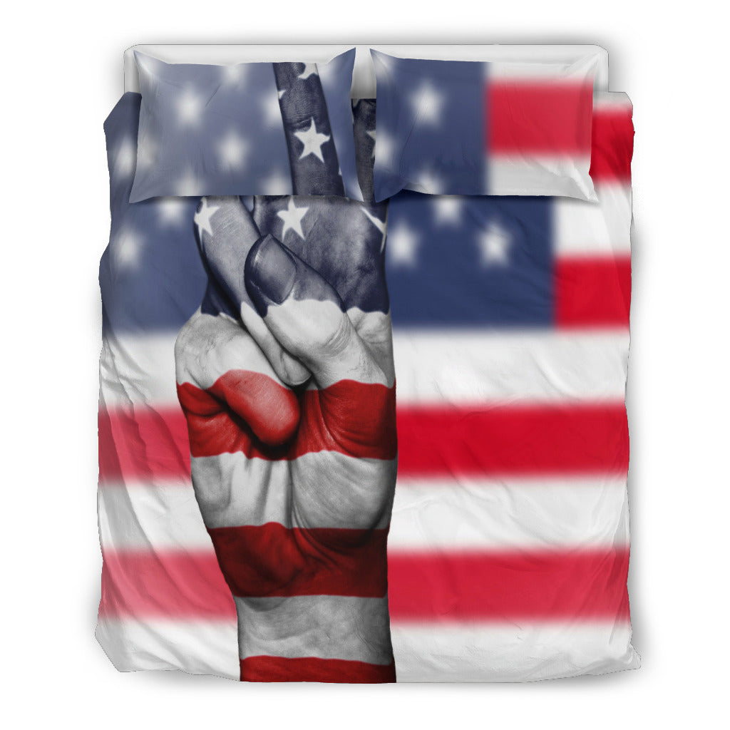 American Peace Black Themed Bedding Sets (Includes Duvet Cover, Twin/Queen/King Size Bed Sheet & 2 Pillow Covers)