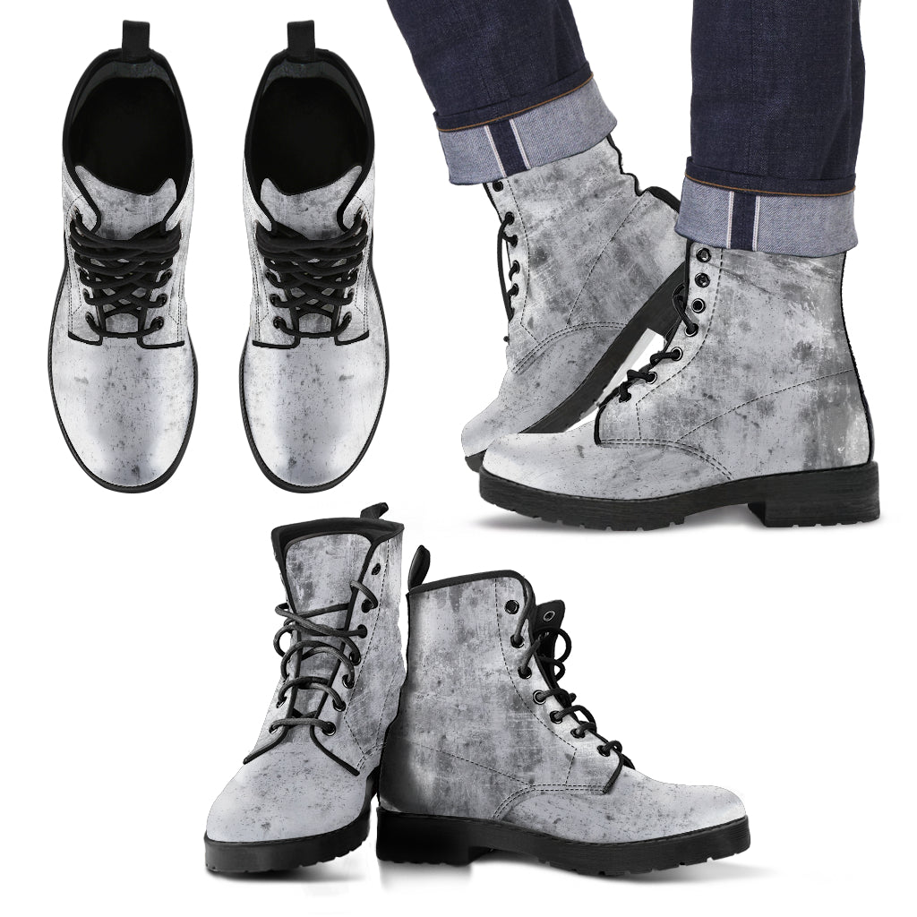 Dirty Concrete Grunge - Leather Boots for Men