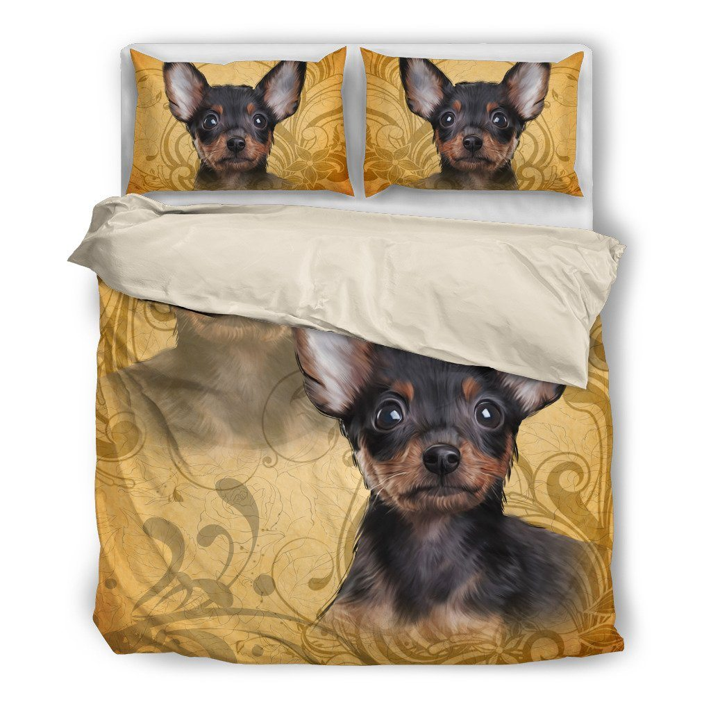 Chihuahua Lover 4 Dog Themed Bedding Sets (Includes Duvet Cover, Twin/Queen/King Size Bed Sheet & 2 Pillow Covers)