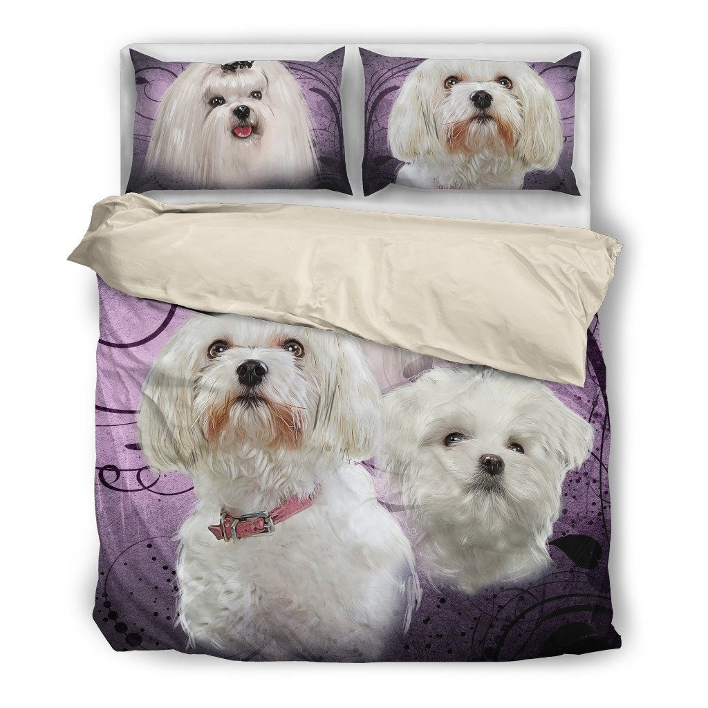 Maltese 2 Bedding Set (Free Shipping + 2 Matching Covers)