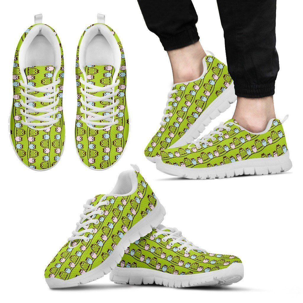 Owl Print Sneakers Available in Men's, and Women's Sizes