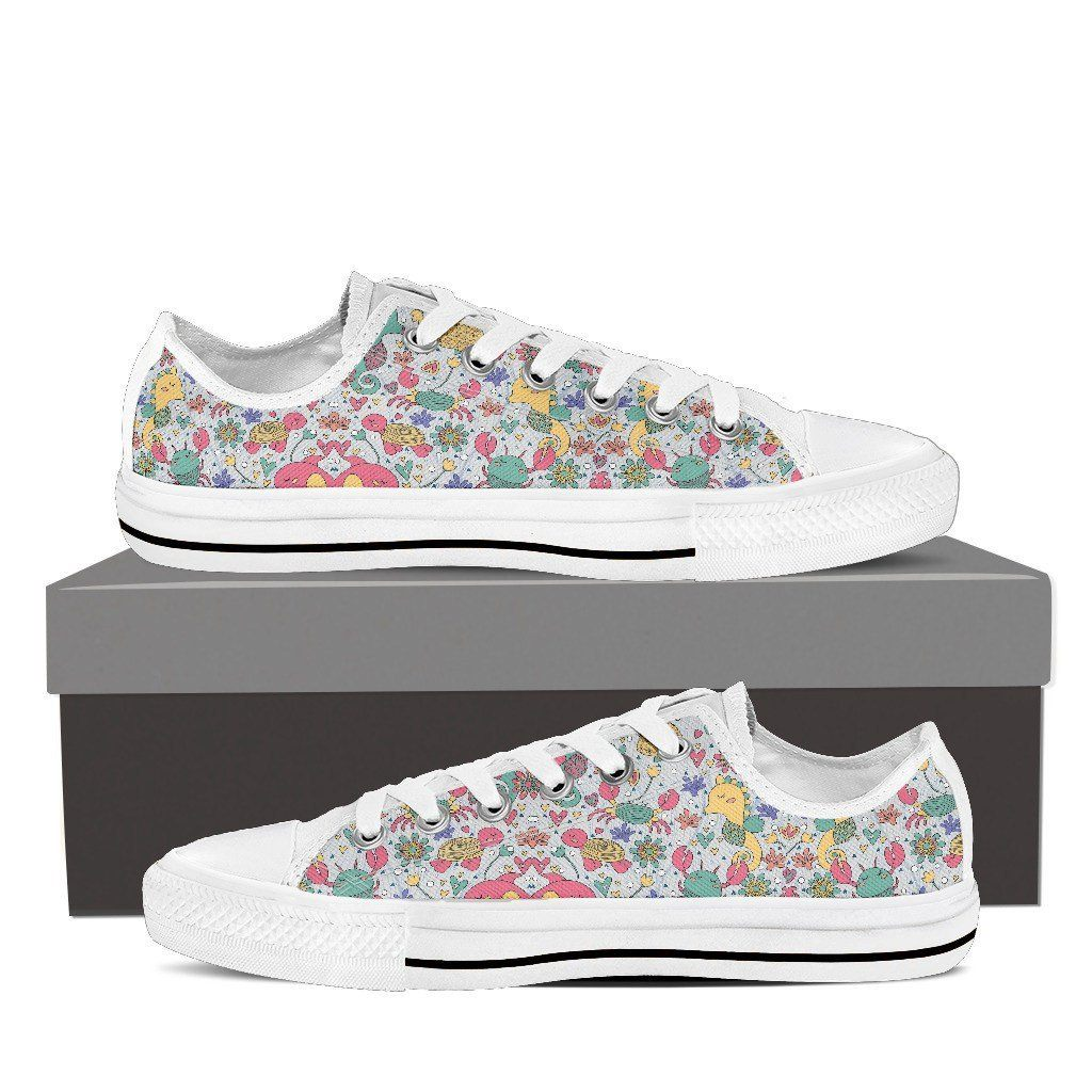 Diver Print Low Tops Shoes Available in Men's and Women's Sizes