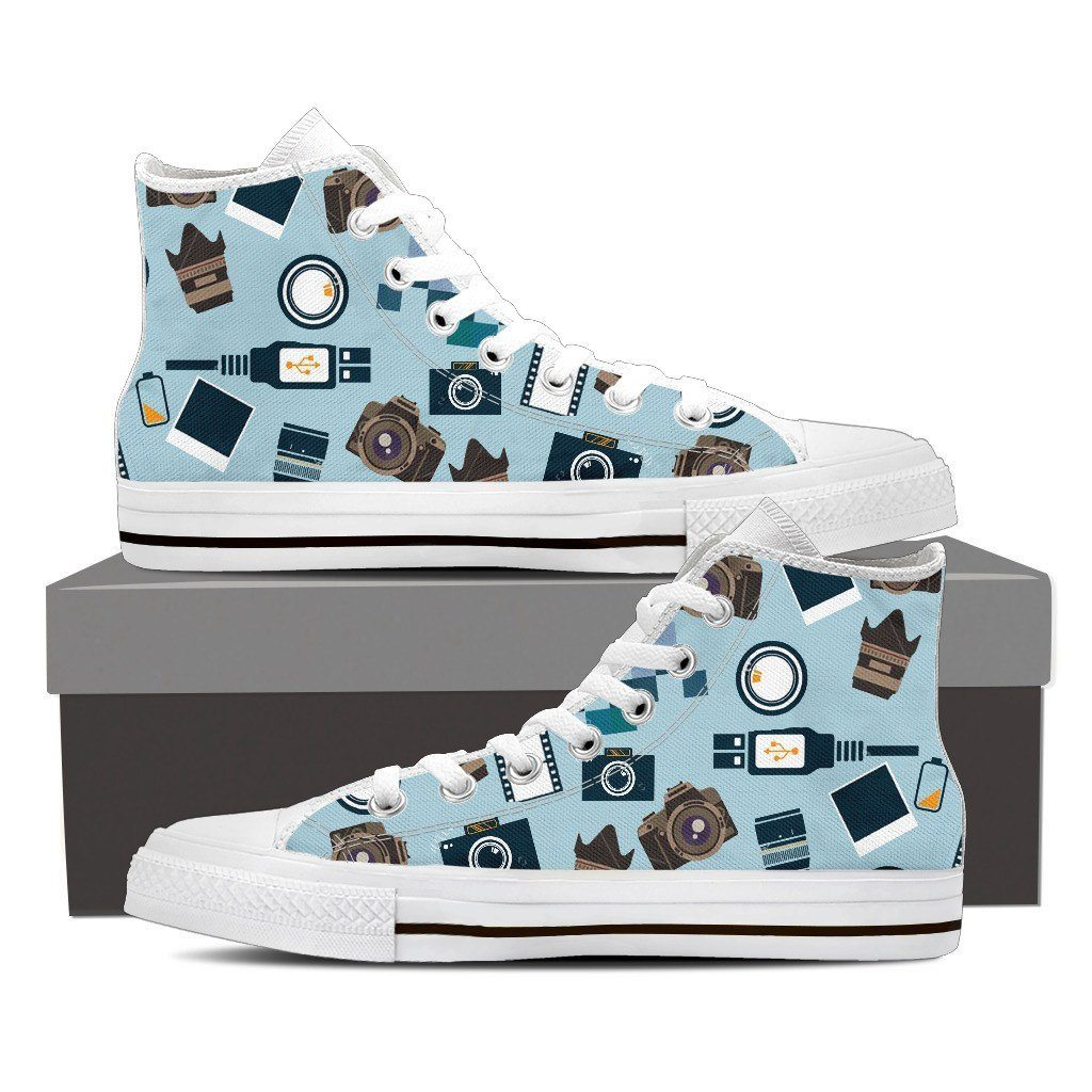 Photography Print High Tops Shoes Available in Men's and Women's Sizes