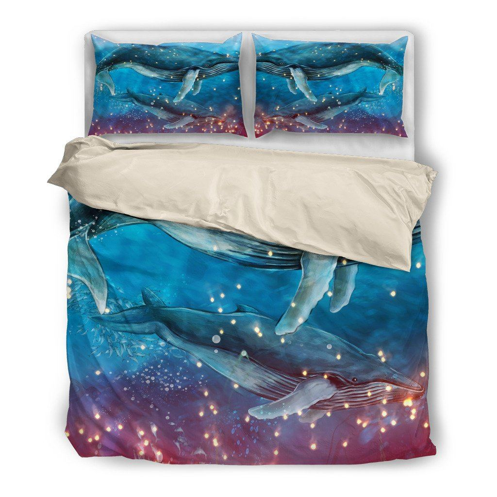 Onlinepresales Whale Shark Aquatic Design Bedding Set Hypoallergenic Duvet Cover  Microfiber Twin/Queen/ King Size Bed Sheet with 2 Pillow Covers