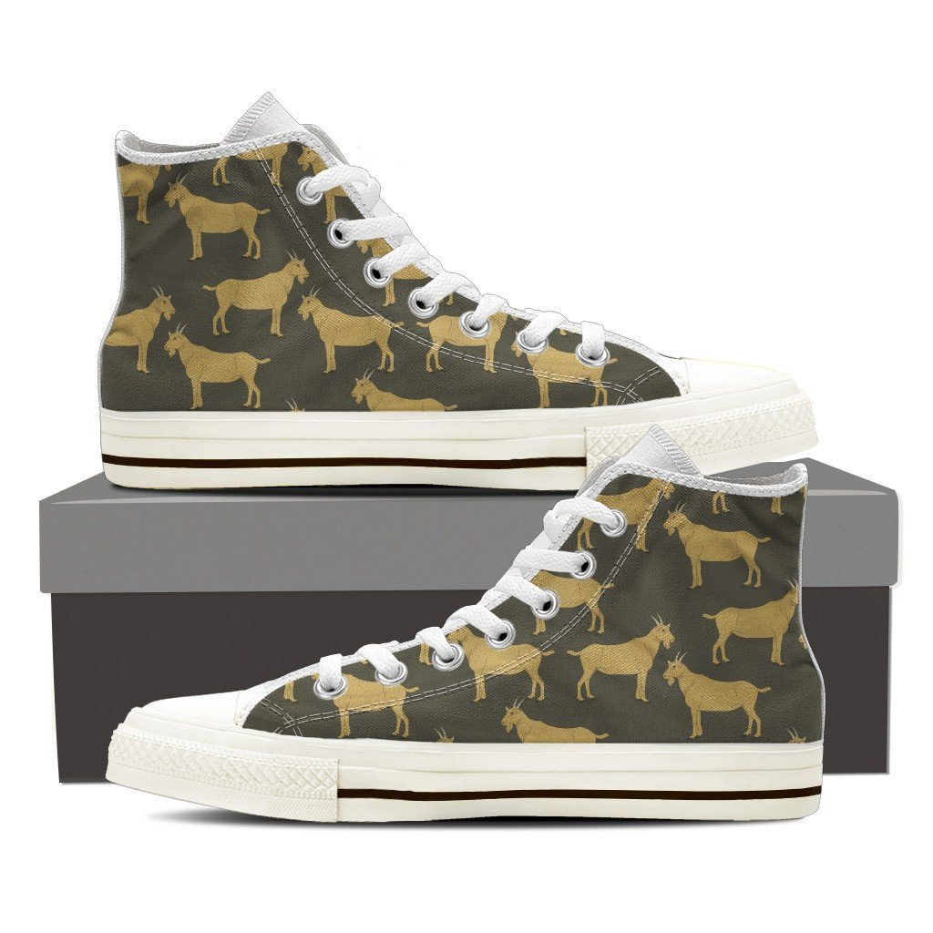 Goat 2 Print High Tops Shoes Available in Men's and Women's Sizes