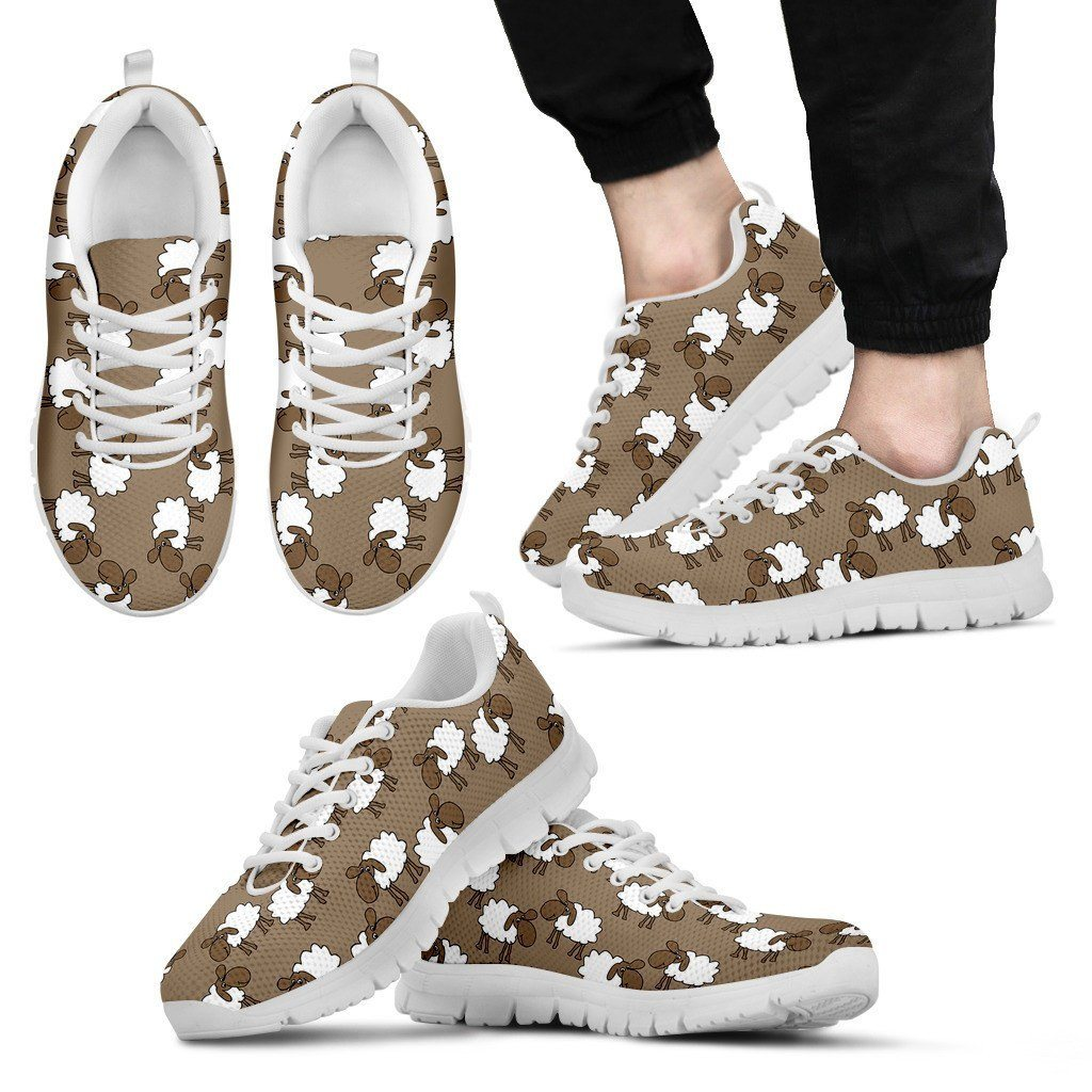 Sheep Print Sneakers Available in Men's and Women's Sizes