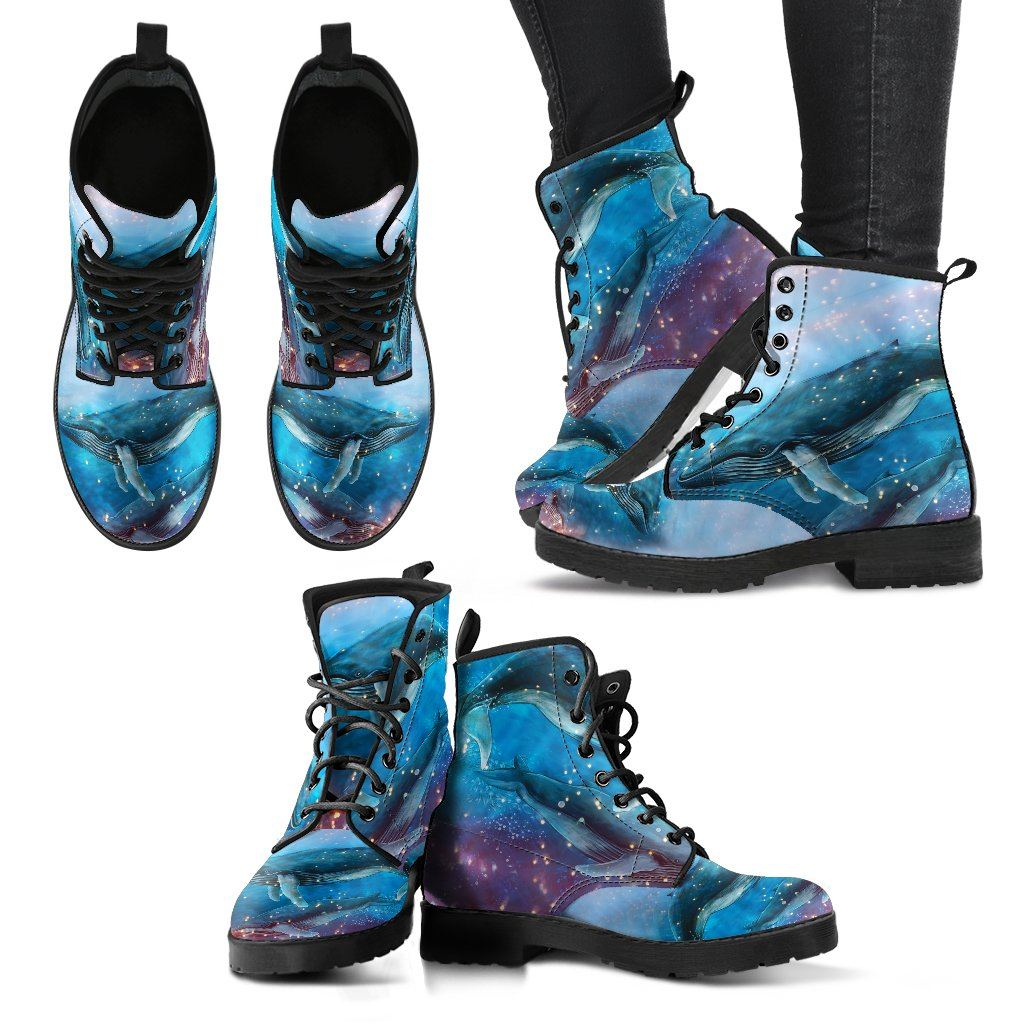 Whale 2 Print Faux Leather Boots