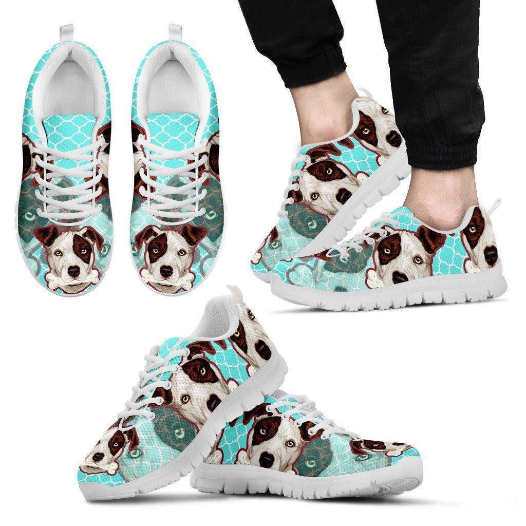 Pitbull Bone Print Sneakers Available in Men's, Women's and Kid's Sizes