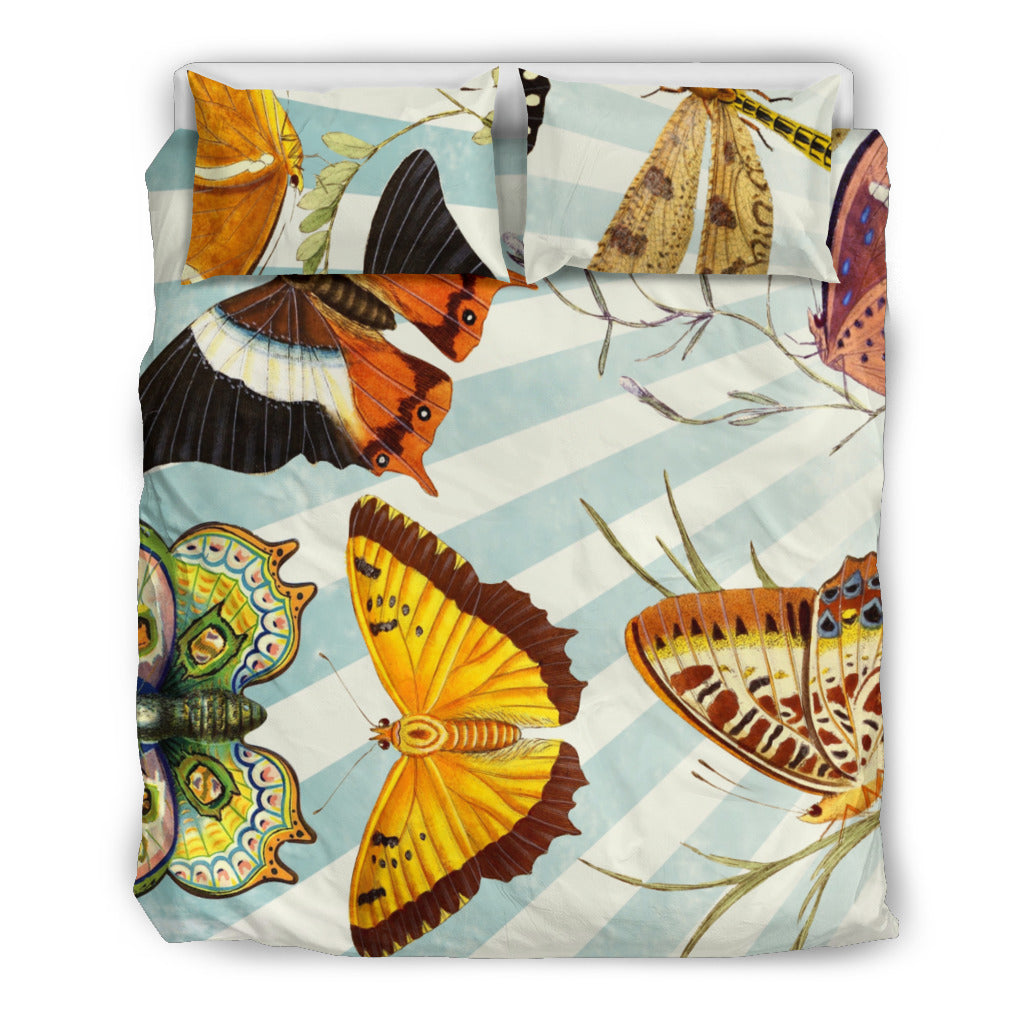 Butterfly Themed Bedding Sets (Includes Duvet Cover, Twin/Queen/King Size Bed Sheet & 2 Pillow Covers)