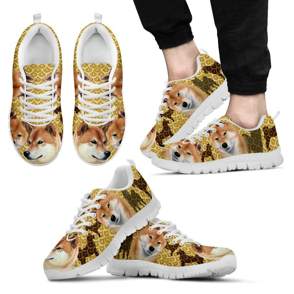 Shiba Inu Print Sneakers Available in Men's, Women's, and Kid's Sizes