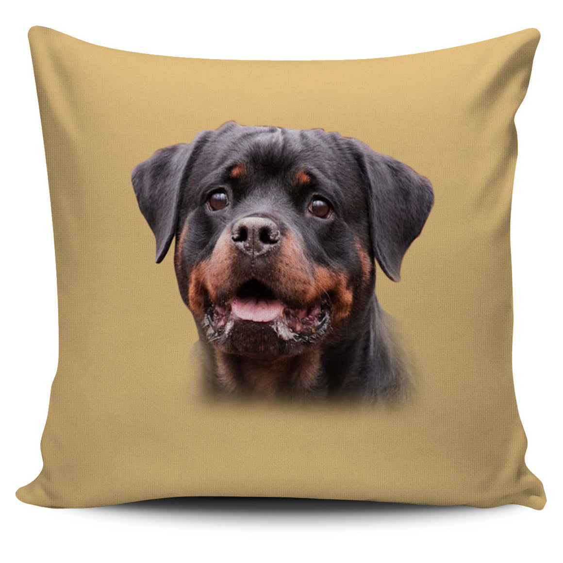 Rottweiler Cream Themed Pillow Cover
