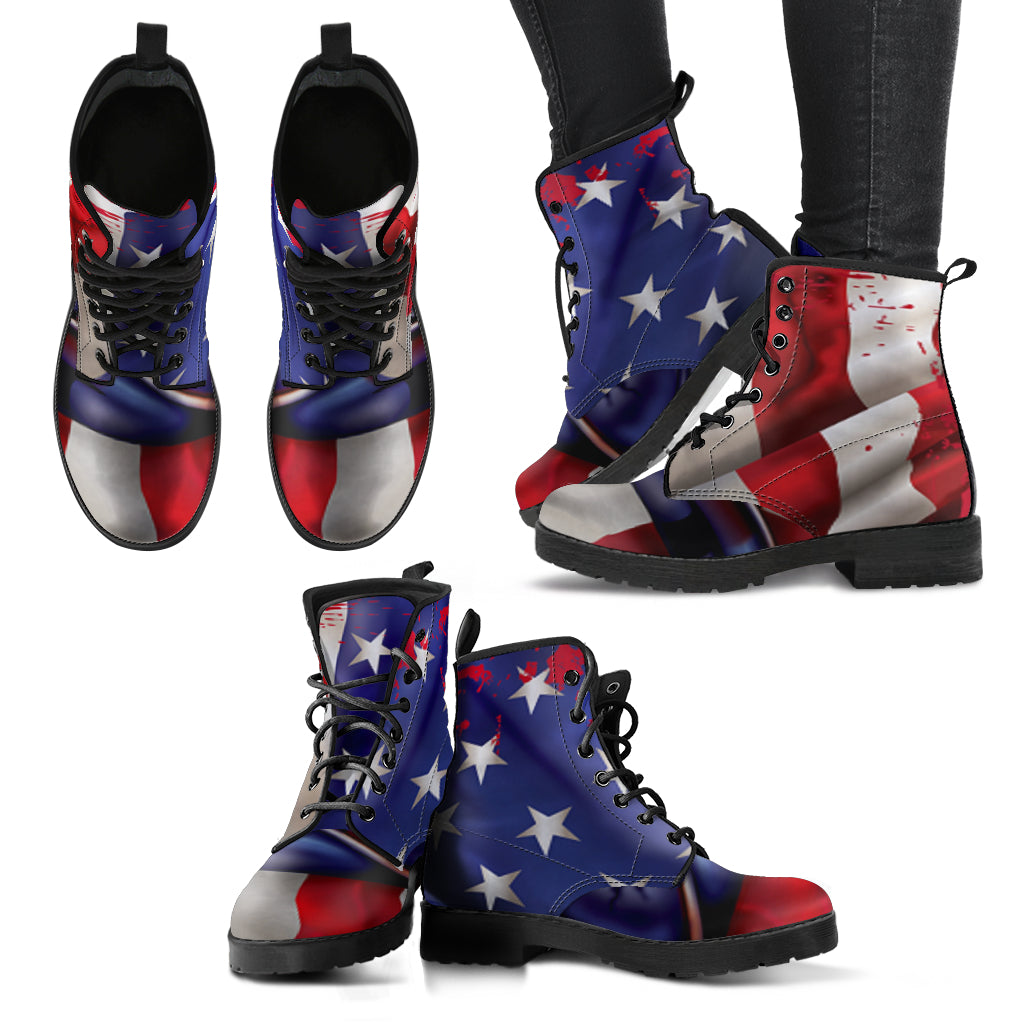 American Flag Print Boots for Women