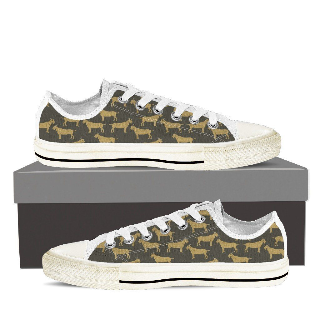 Goat 2 Print Low Tops Shoes Available in Men's and Women's Sizes