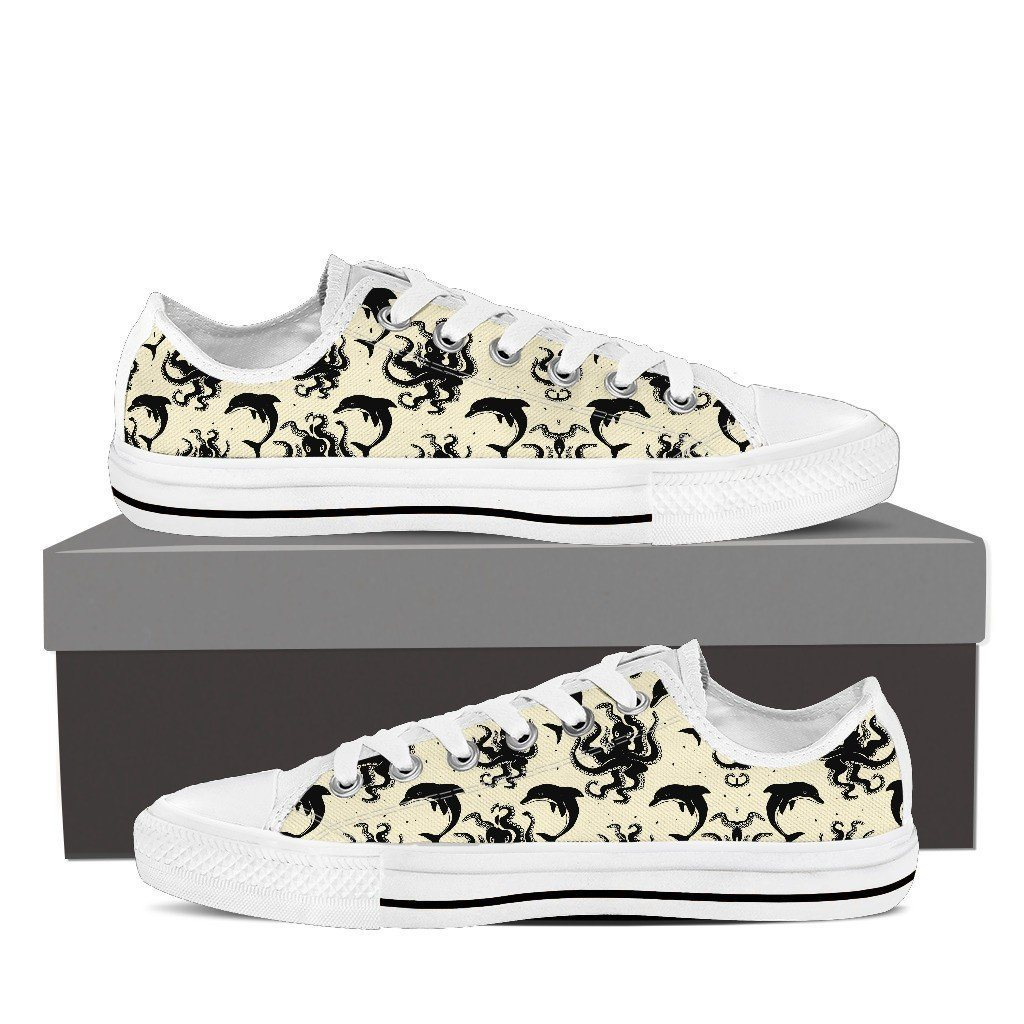 Octopus 2 Print Low Tops Shoes Available in Men's and Women's Sizes