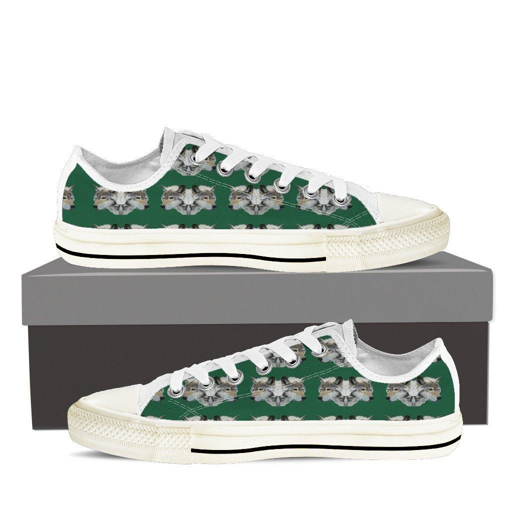 Wolf Print Low Tops Shoes Available in Men's and Women's Sizes