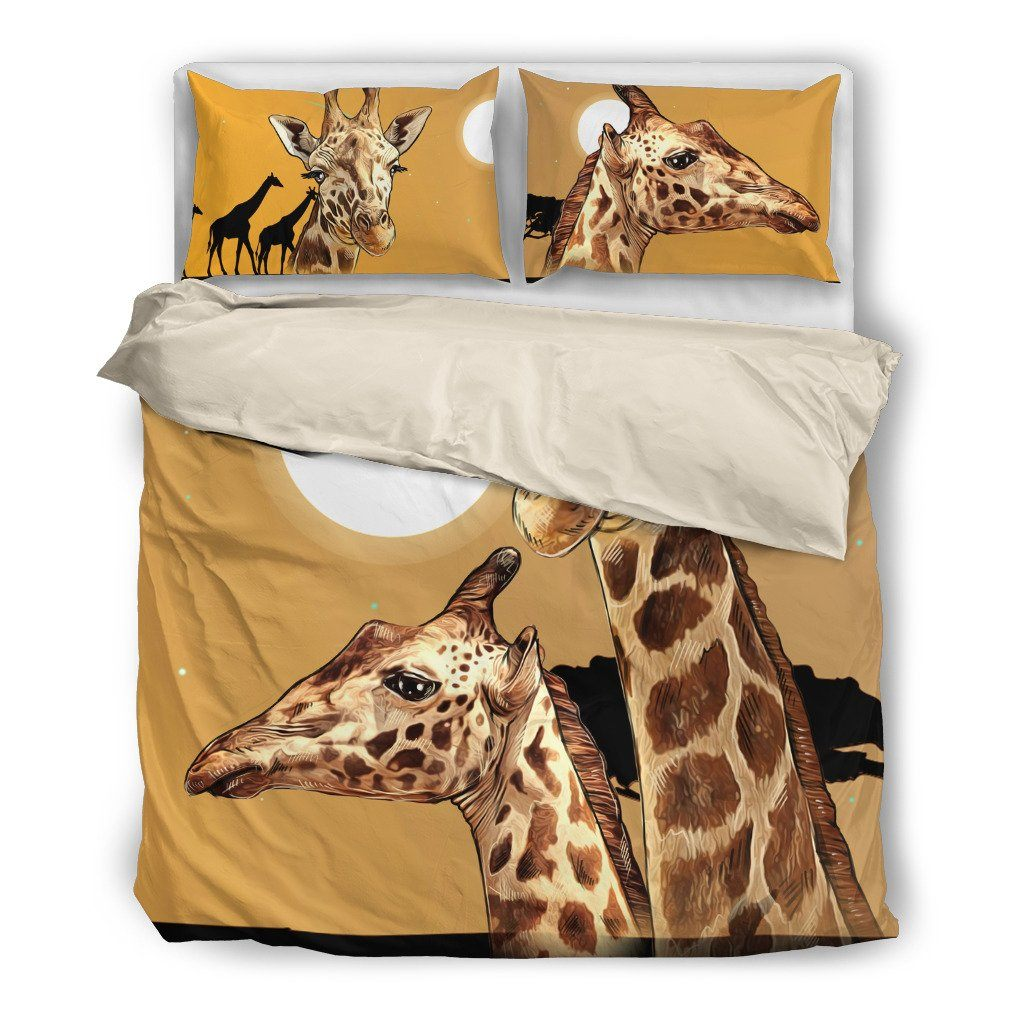 Giraffe 2 Design Bedding Set Hypoallergenic Duvet Cover Microfiber Twin/Queen/King Size Bed Sheet with 2 Pillow Covers