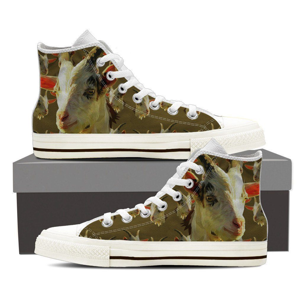 Goat Print High Tops Available in Men's and Women's Sizes