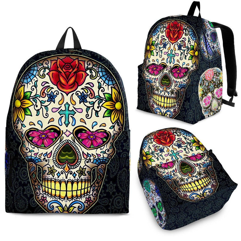 Sugar Skull Black 2 Backpack