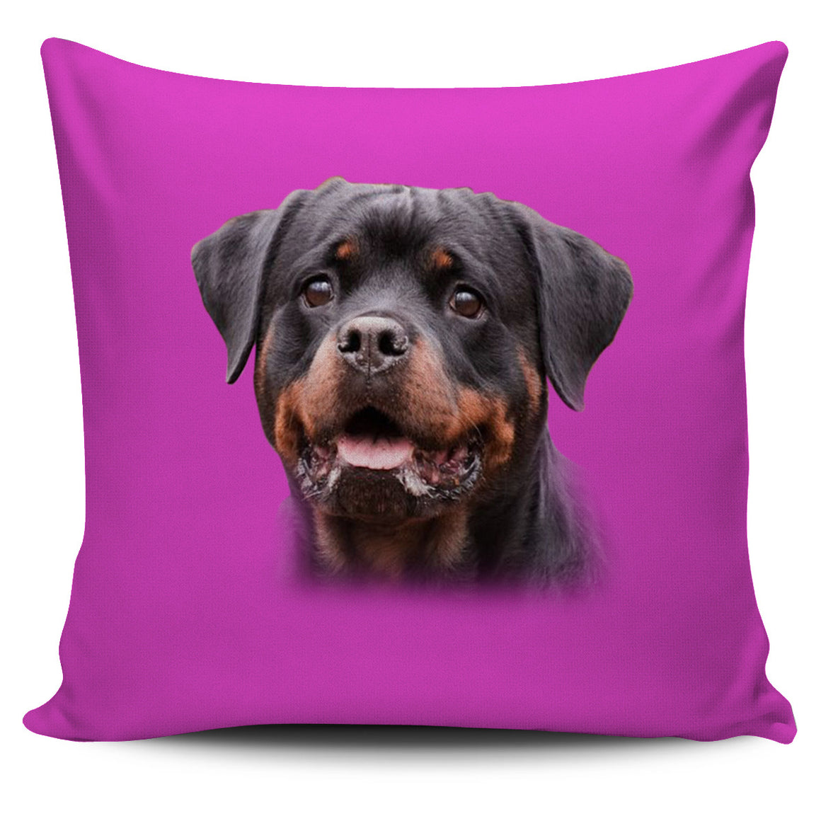 Rottweiler Pink Themed Pillow Cover