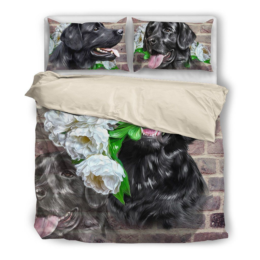 Onlinepresales Black Labrador Dog Design Bedding Set Hypoallergenic Duvet Cover  Microfiber Twin/Queen/ King Size Bed Sheet with 2 Pillow Covers