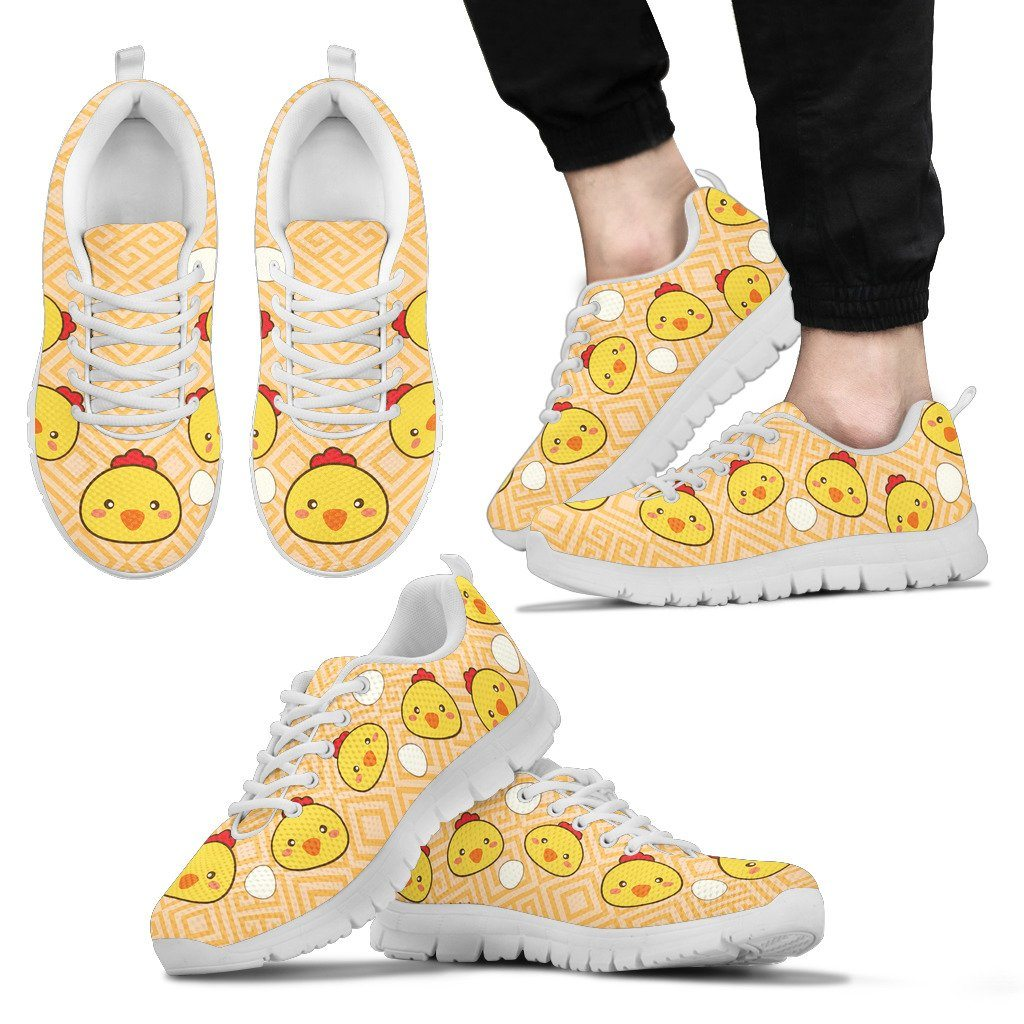 Cute Chicken Sneakers Available in Men's, Women's, and Kid's Sizes