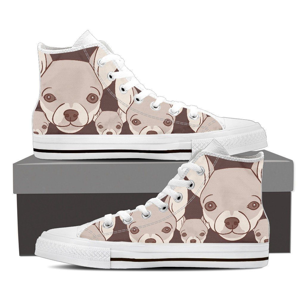 Chihuahua Lover 2 Print High Tops Shoes Available in Men's and Women's Sizes