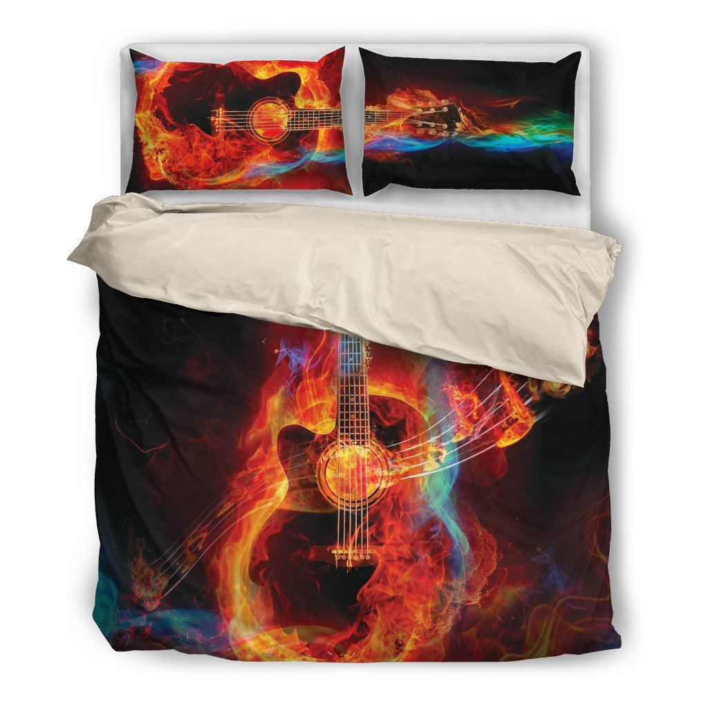 Nice Guitar Lover Bedding Set(Free Shipping + 2 Matching Covers)