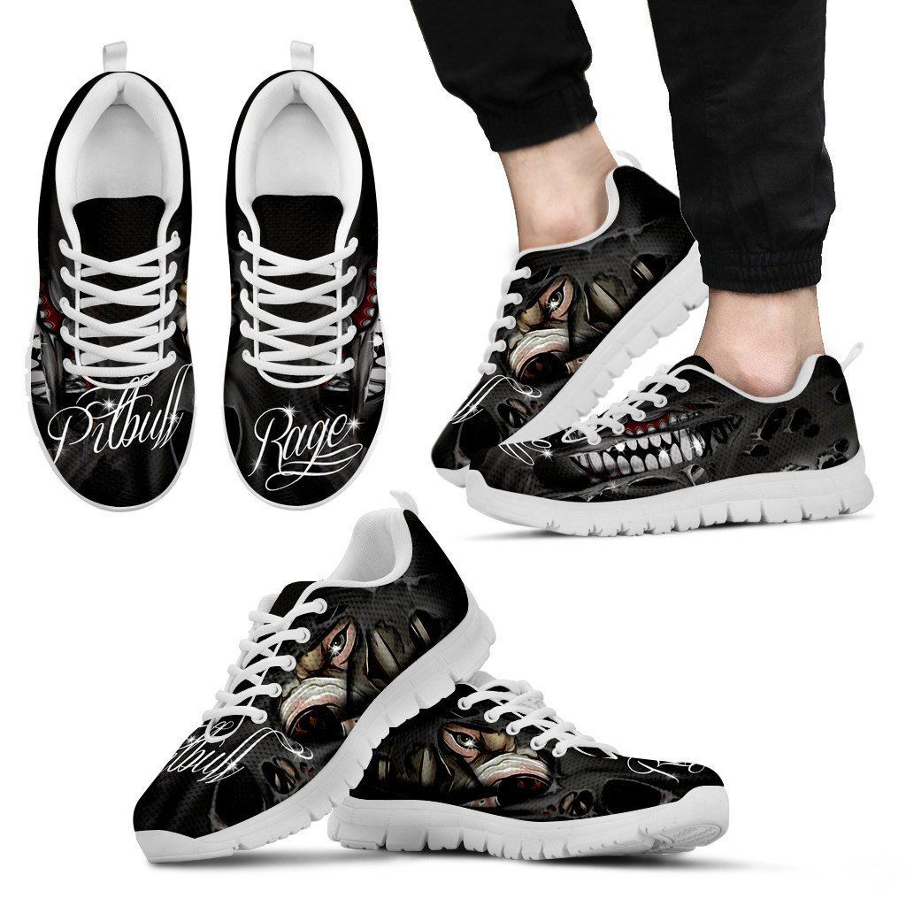 Pitbull White Sole Print Sneakers Available in Men's, Women's and Kid's Sizes