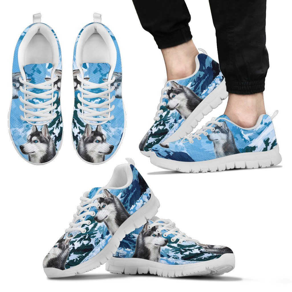 Husky Free Sky Print Sneakers Available in Men's, Women's, and Kid's Sizes