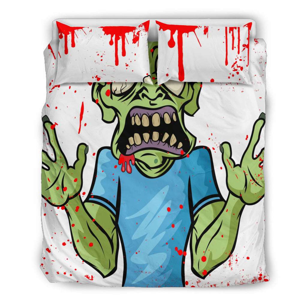 Bloody Zombie Themed Bedding Sets (Includes Duvet Cover, Twin/Queen/King Size Bed Sheet & 2 Pillow Covers)